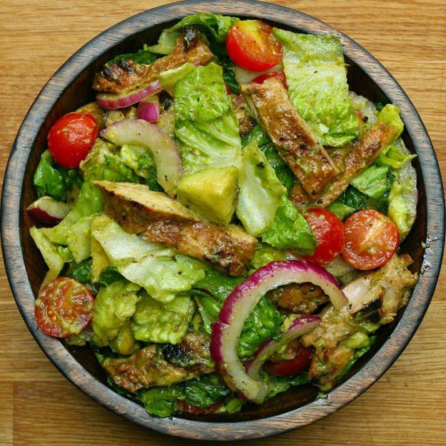 Honey-Lime Chicken And Avocado Salad
