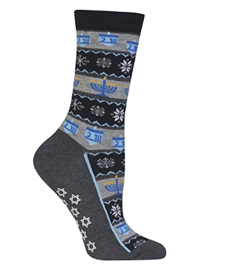 Hot Sox Women's Hanukkah Stripe Sock