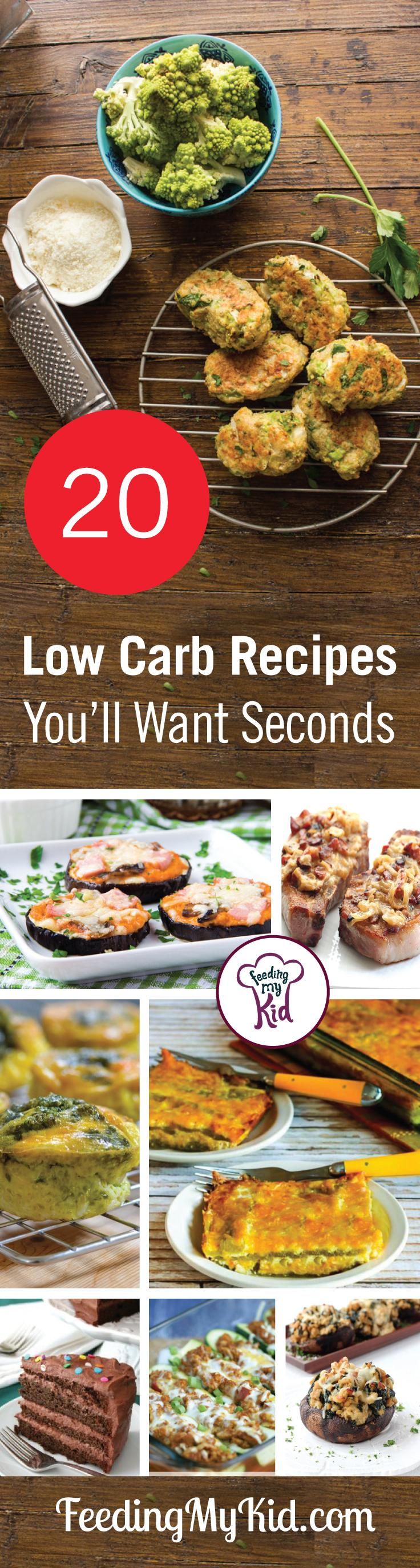 Are you or your family members on a low-carb diet? Try these tasty low-carb recipes. Low-carb doesn't have to mean boring!