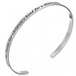 Silver Mother and Child Cuff Bracelet