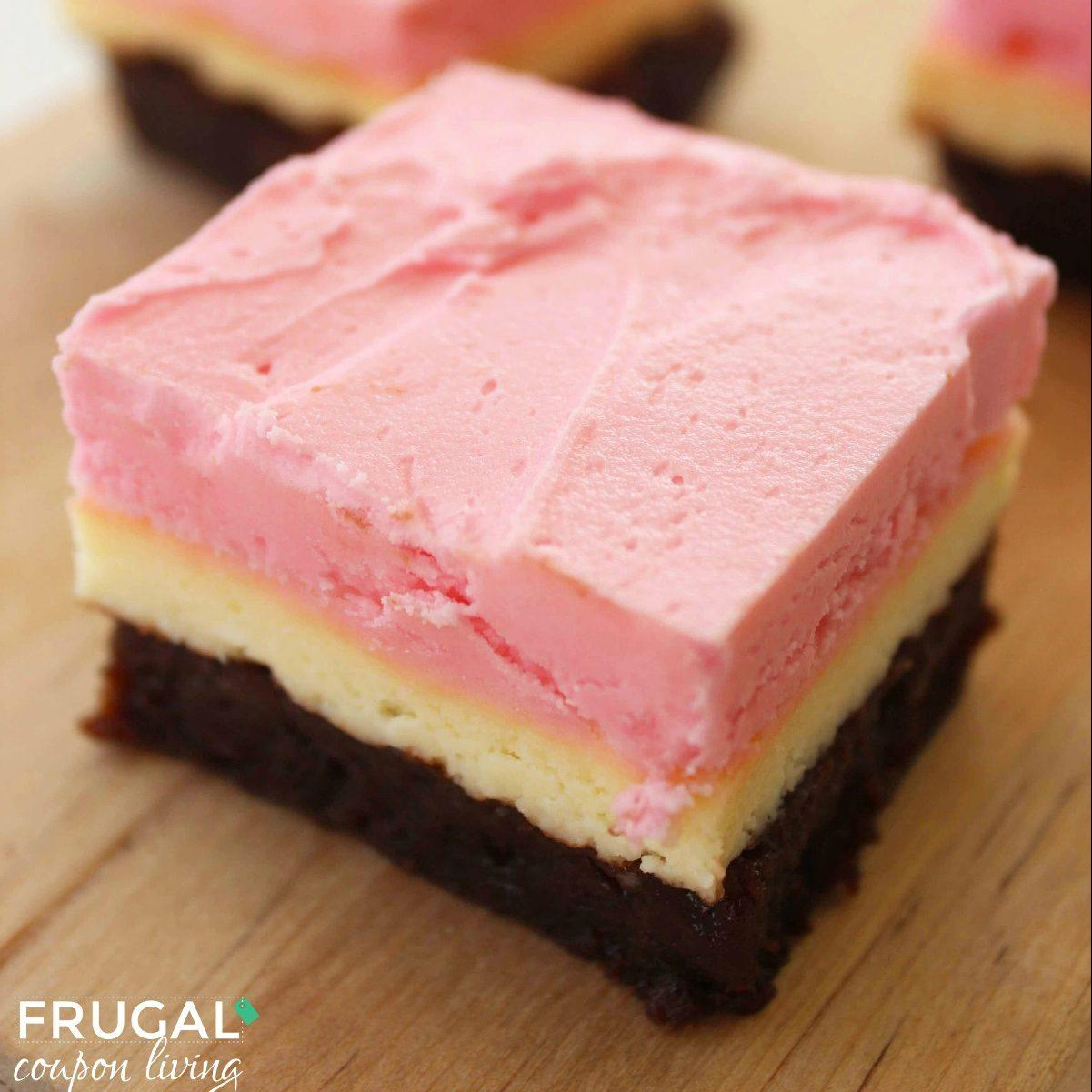 Neapolitan Cheesecake Brownies