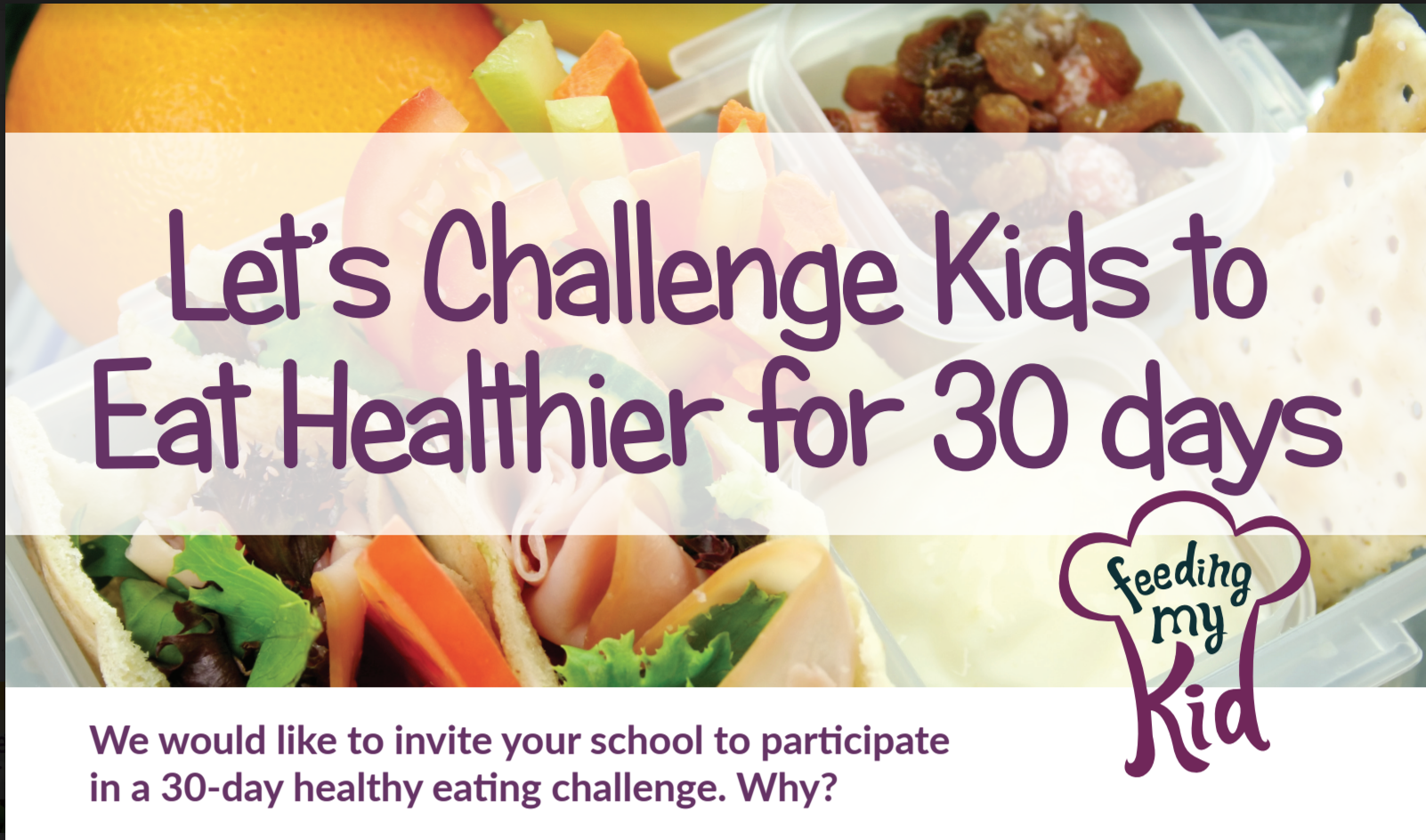 Parents, Take this 30 Day Healthy Eating Challenge With Your Kids