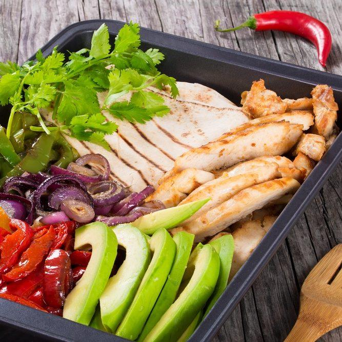 Sizzling Air Fryer Turkey Fajitas Platter