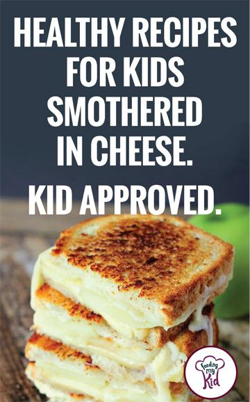 Healthy recipes for kids! Get them to eat fruits and vegetables by loading them up with cheese. Get inspired with these tasty recipes.