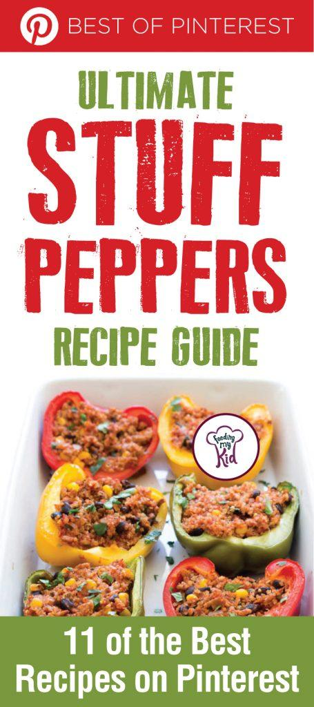 Here's a good way to get your kids to eat bell peppers. Stuffed peppers can be stuffed with anything you want. Delicious and so versatile!