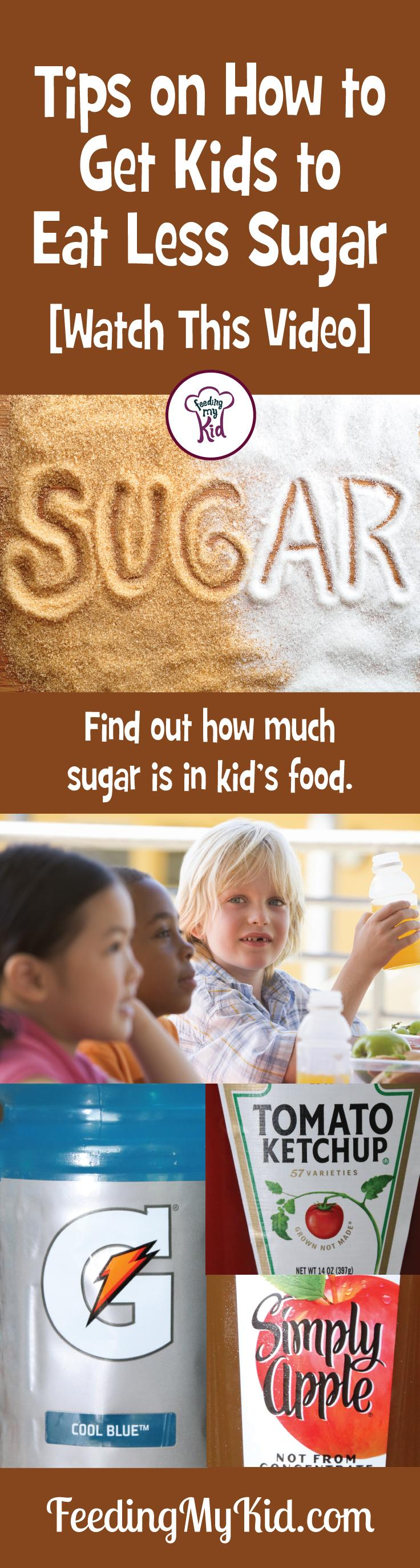 Check out one mom's experiment to see the amount of sugar in food & drinks marketed to us as healthy like apple juice, orange juice, sports drinks, etc.