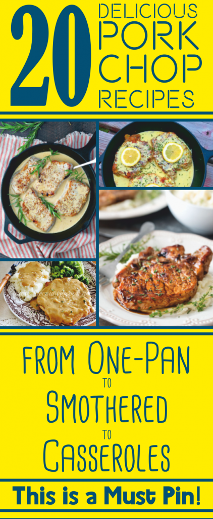 These easy pork chop recipes have so much flavor. Ditch those boring pork chops. With this list, everyone will want seconds!