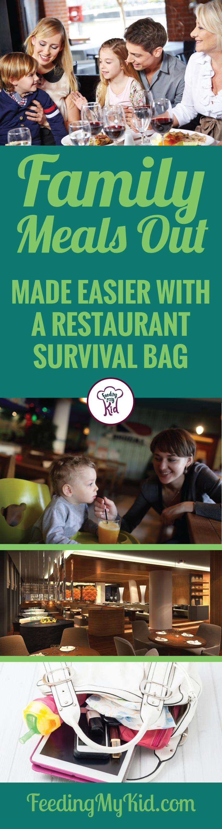 Parents, you know going out to eat for family meals with a toddler can go really good or really bad. Tips and hacks using your survival bag!