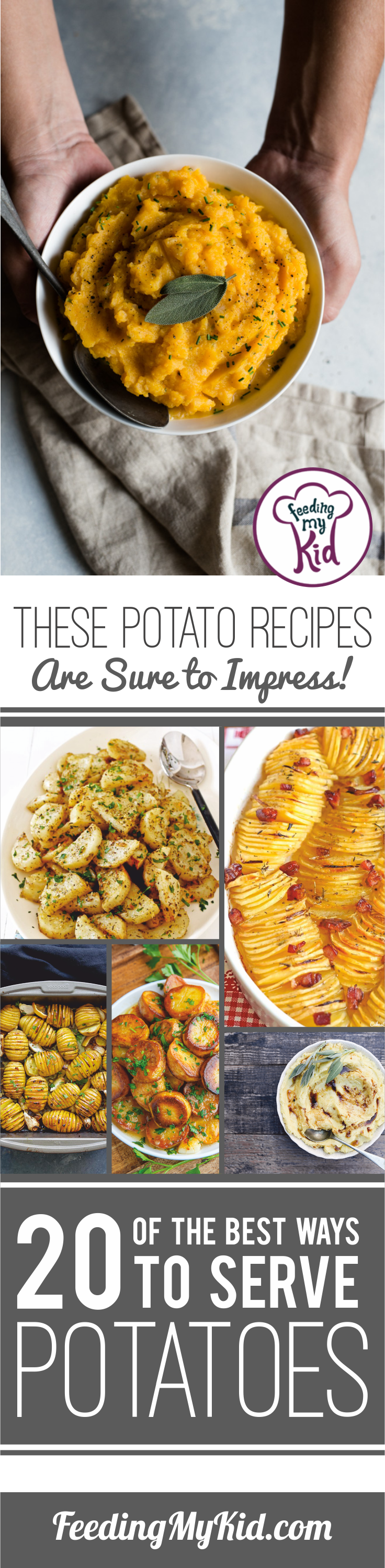 Our ultimate list of the 20 best ways to serve potato dishes! These are perfect for dinner parties and potlucks. Your guests will be impressed.