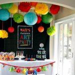 A Picasso Inspired Boy's Art Themed Birthday Party