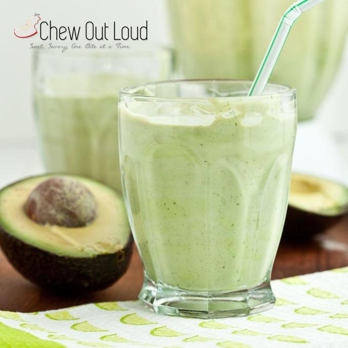 Avocado Coconut Smoothie Shake