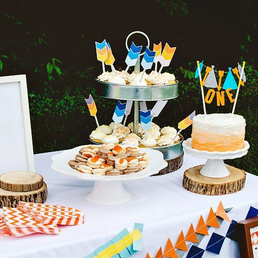 """Beau the Brave"" Tribal Inspired First Birthday Party"