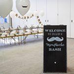 Black and White Mustache Birthday Party