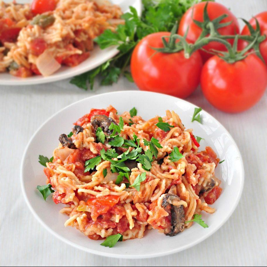 Crock Pot Spaghetti and Vegetables