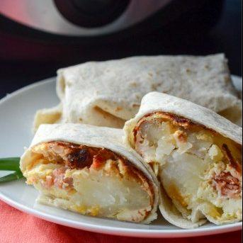 Crockpot Breakfast Burritos