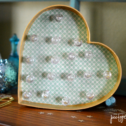 DIY Heart Marquee Light
