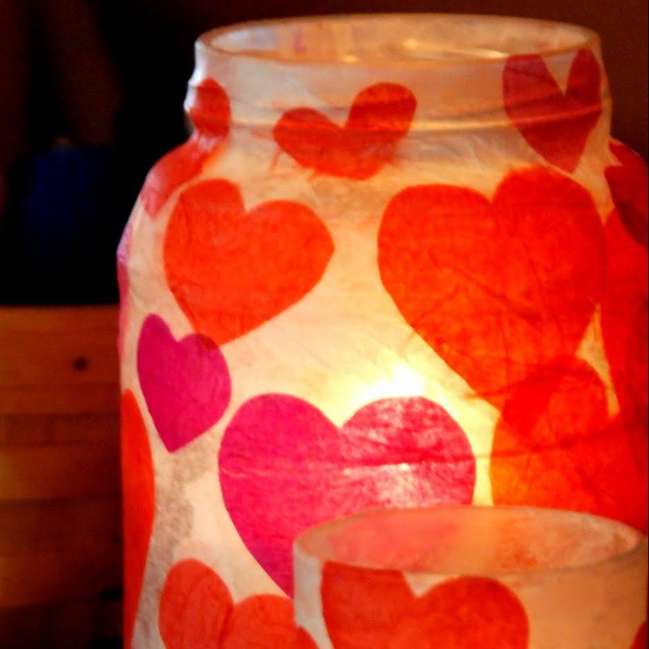 DIY Valentines Votives