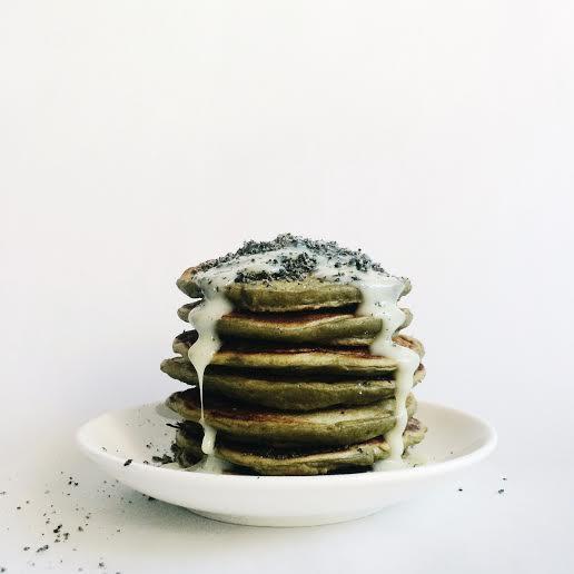 Easy Matcha Pancakes