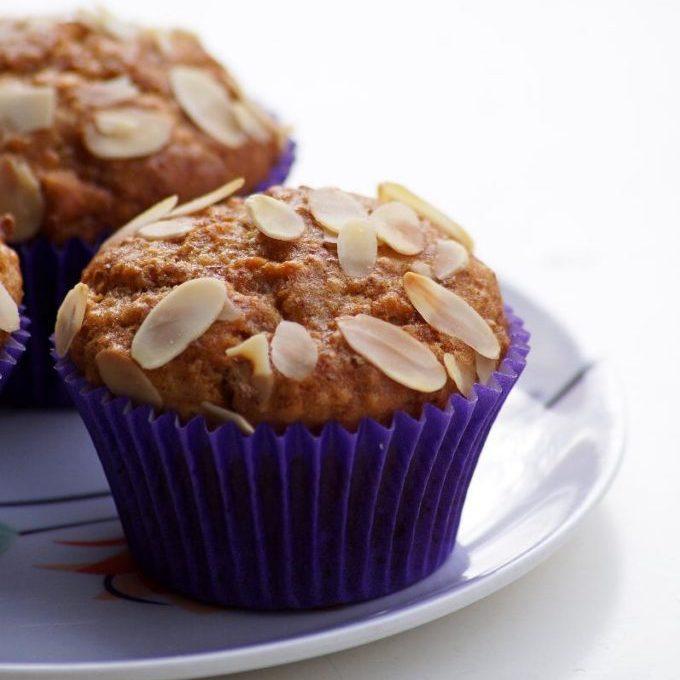 Eggless Quinoa Banana Almond Muffins