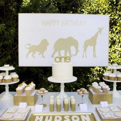 Golden Safari 1st Birthday
