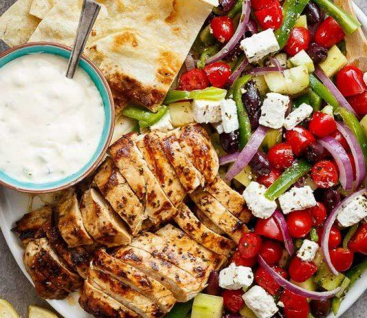Greek Lemon Garlic Chicken Salad