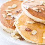 Greek Yogurt Honey Almond Pancakes