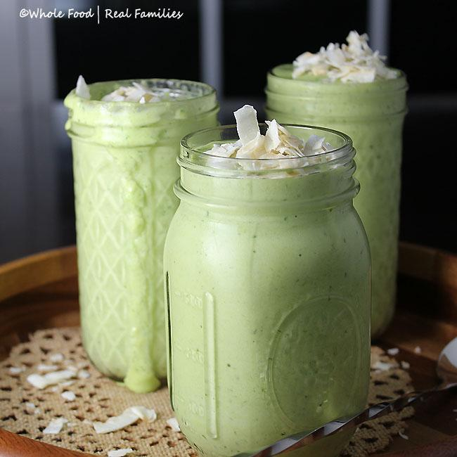 Healthy Green Pina Colada Smoothie