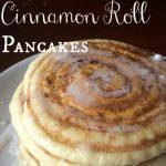 Homemade Cinnamon Roll Pancakes with Cream Cheese Glaze