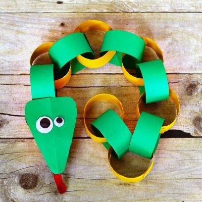 How To Make A Paper Chain Snake