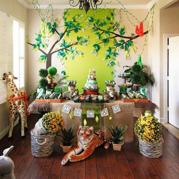 Incredible Jungle Safari First Birthday And Dessert Table