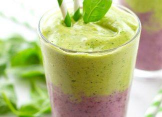 Layered Mixed-Berry Green Power Smoothie