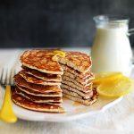 Lemon Chia Seeds Protein Pancakes