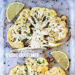 Lemon Paprika Roasted Cauliflower