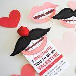 Mustache and Lip Sucker Valentines
