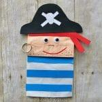 Paper Bag Pirate Craft For Kids
