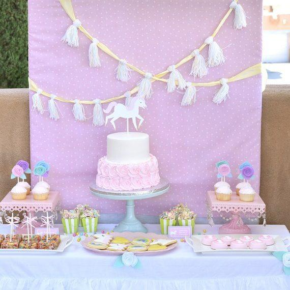 Pastel Unicorn Themed Birthday Party
