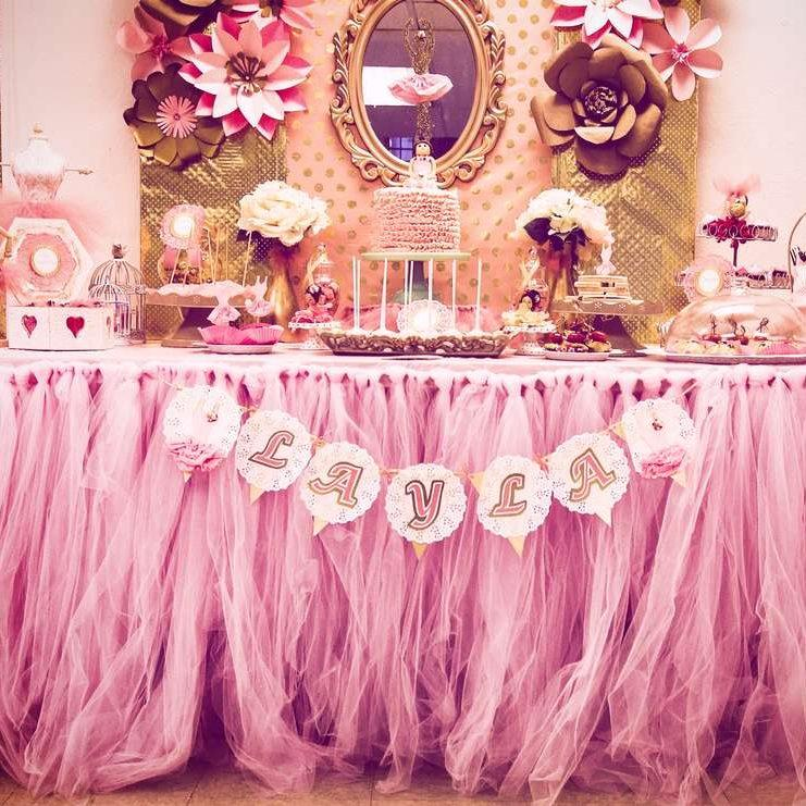 Pink and Gold Ballerina Party