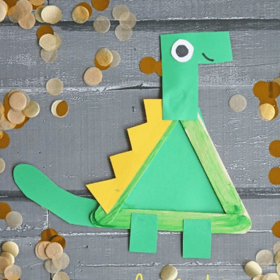 Popsicle Stick Dinosaur