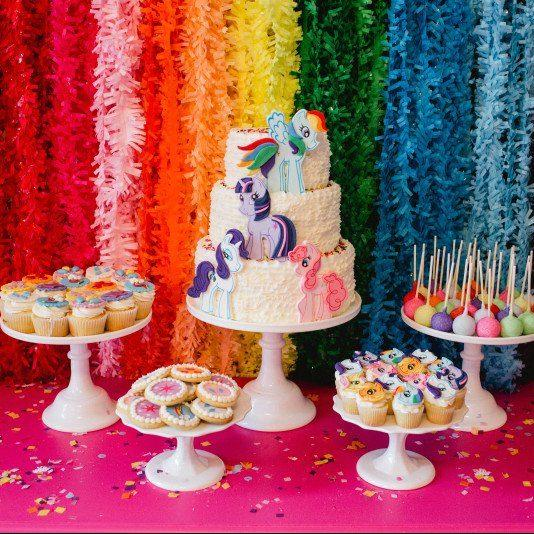 Rainbow-Themed My Little Pony Party