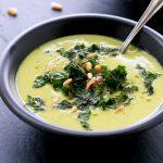 Roasted Cauliflower Kale Soup