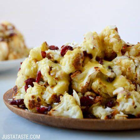 Roasted Cauliflower Salad with Lemon Dressing