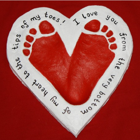 Footprint Salt Dough Heart Craft