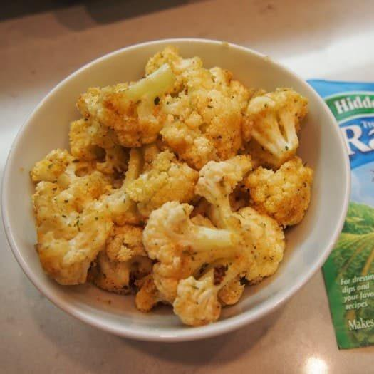 Super Easy Roasted Ranch Cauliflower