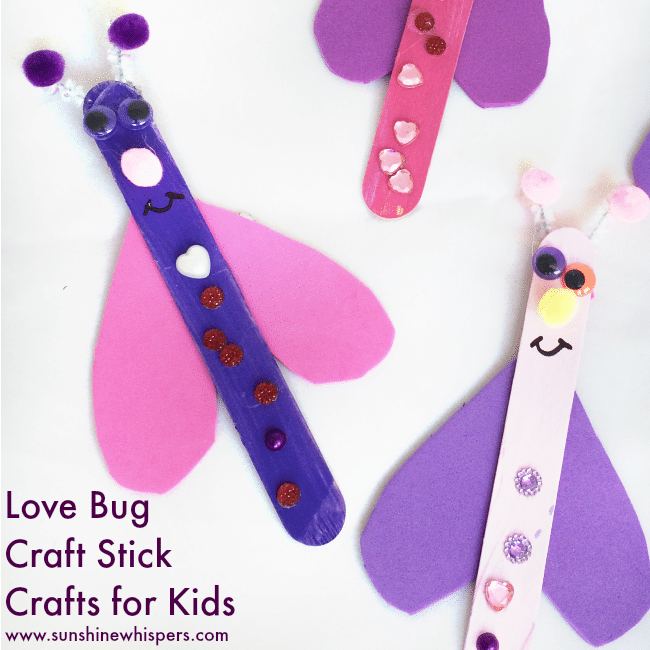 Super Fun Craft Stick Love Bugs