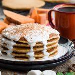 Sweet Potato Pancakes With Marshmallow Sauce