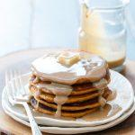 Sweet Potato Pancakes with Cinnamon Cream Syrup