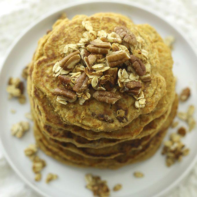 Sweet Potato Pecan Pancakes