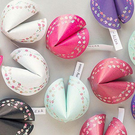 Valentine Paper Fortune Cookies