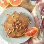Vegan Sweet Potato Pancakes With Orange Infused Maple Syrup
