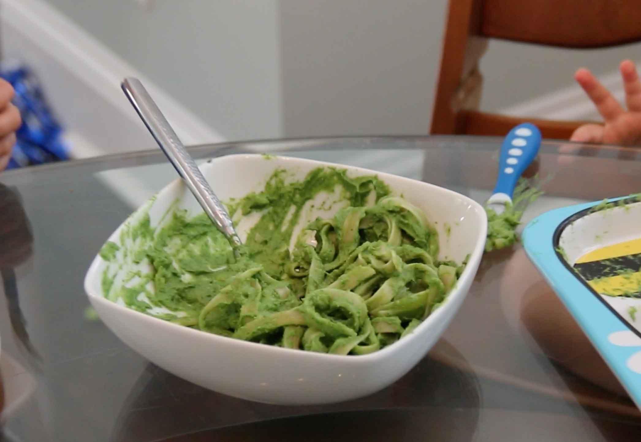 Healthy avocado pasta sauce.